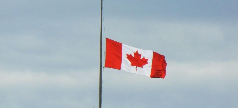 Flag lowered to half-mast