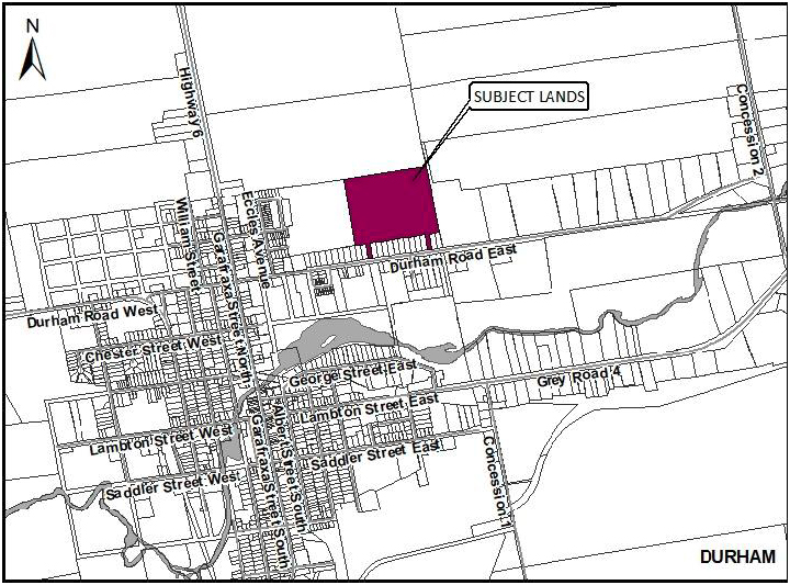 map of Broos subdivision