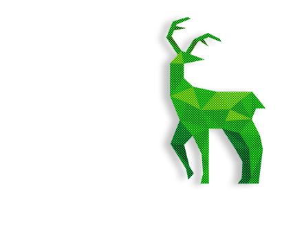a green deer